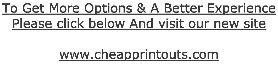 CHEAPEST PRINTOUTS